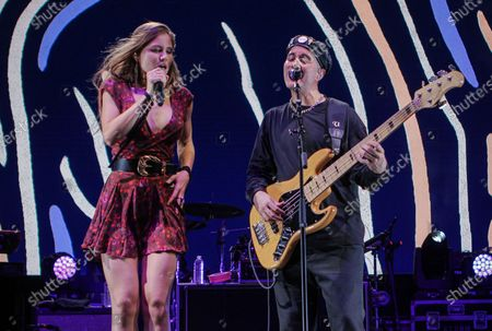 Delic and Willy Rodriguez of Cultura Profetica perform at Cosquin Rock USA at Island Gardens in Miami, Florida on August 21, 2021.