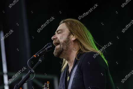 Canadian Musician, Producer and Actor Alan Doyle performs live during the Together Again Outdoor Festival at Northlands Exhibition Grounds in Edmonton.