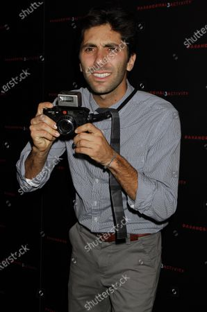 """Stock Photo of Yaniv Schulman arrives for the """"Paranormal Activity 3"""" screening at Regal Union Square Stadium 14 in New York on October 18, 2011."""