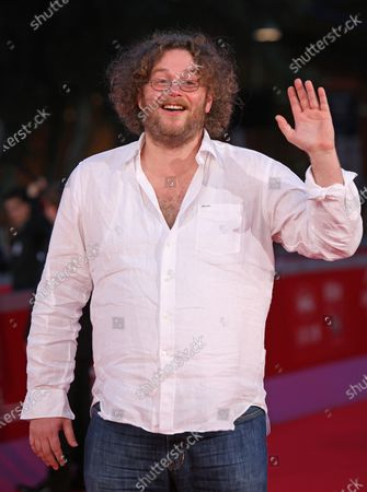 """Vincent Lannoo arrives on the red carpet before a screening of the film """"Little Glory"""" during the 6th Rome International Film Festival in Rome on October 31, 2011."""