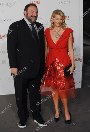 Producer Joel Silver and his wife Karyn Fields attend the LACMA Art + Film gala honoring Clint Eastwood and John Baldessari at the Los Angeles County Museum of Art in Los Angeles on November 5, 2011.