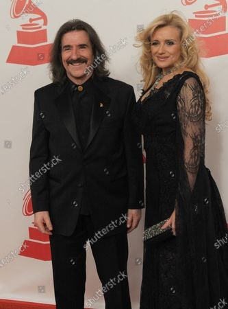 Luis Cobos and Patricia Cobos arrive at the Latin Grammy Person of the Year Award at the Mandalay Bay in Las Vegas on November 9, 2011.