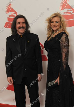 Stock Picture of Luis Cobos and Patricia Cobos arrive at the Latin Grammy Person of the Year Award at the Mandalay Bay in Las Vegas on November 9, 2011.