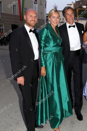Stock Image of Christian Ebenbauer,  Diana Langes-Swarovski,  Karl-Heinz Grasser