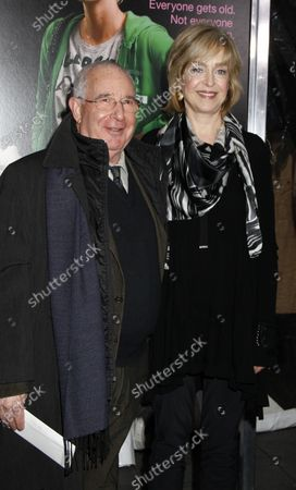 """Jill Eikenberry and husband Michael Tucker arrive for the """"Young Adult"""" premiere at the Ziegfeld Theatre in New York on December 8, 2011."""