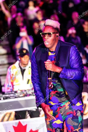 Editorial image of Canadian rapper, Kardinal Offishall performs at the Canadian Elite Basketball Season Final in Canada - 22 Aug 2021