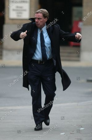 Football Manager Harry Redknapp arrives at Southwark Crown court to hear the Jury's verdict in his tax evasion trial on Wednesday February 08 2011.Mr.Redknapp tipped to be the new England manager and his former business manager Milan Mandaric could face jail if found guilty.