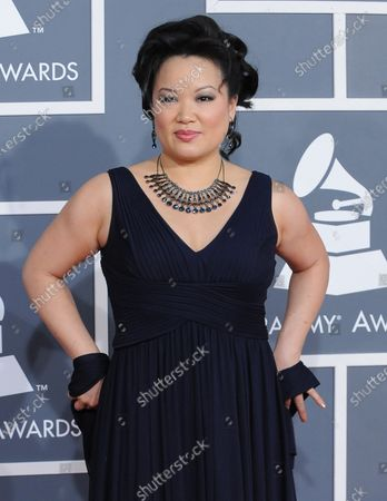Stock Image of Angelin Chang arrives at the 54th annual Grammy Awards at the Staples Center in Los Angeles on February 12, 2012.