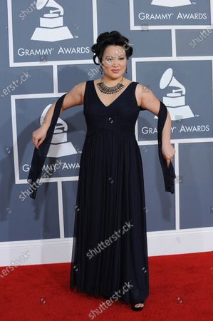 Stock Photo of Angelin Chang arrives at the 54th annual Grammy Awards at the Staples Center in Los Angeles on February 12, 2012.