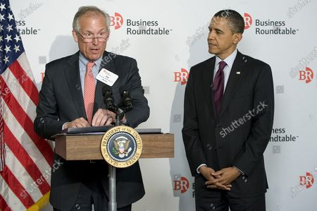 Editorial picture of President Obama meets with members of the Business Roundtable to discuss economic growth in Washington, District of Columbia, United States - 06 Mar 2012