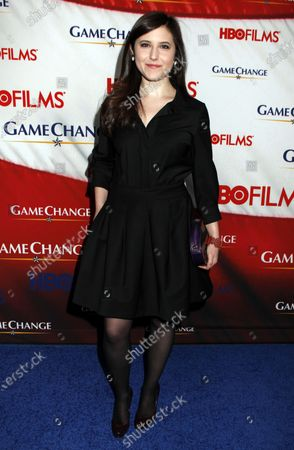 """Melissa Farman arrives for the """"Game Change"""" premiere at the Ziegfeld Theatre in New York on March 7, 2012."""