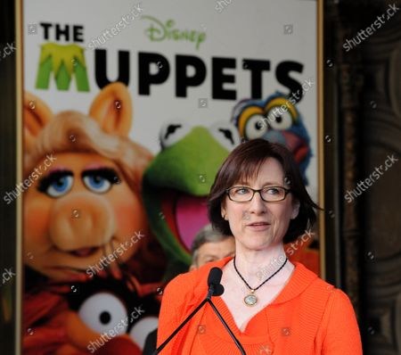 The Jim Henson Company CEO Lisa Henson attends the Inimitable Muppets unveiling ceremony honoring The Muppets  with the 2,466th star on the Hollywood Walk of Fame in Los Angeles on March 20, 2012.