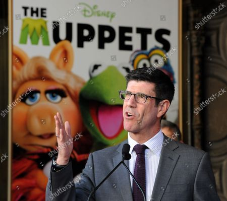 Walt Disney Studios President Rich Ross  attends the Inimitable Muppets unveiling ceremony honoring The Muppets  with the 2,466th star on the Hollywood Walk of Fame in Los Angeles on March 20, 2012.