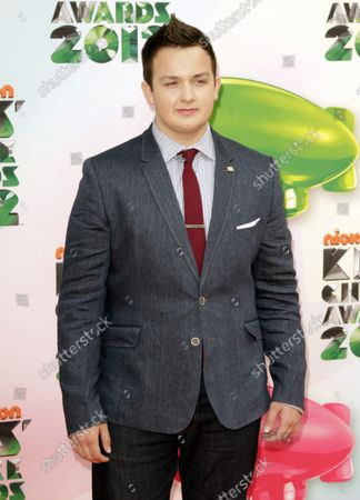 Actor Noah Munck arrives for Nickelodeon's Kids' Choice Awards at USC's Galen Center in Los Angeles on March 31, 2012.