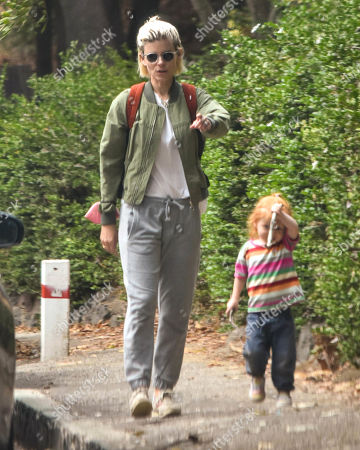 Editorial picture of Kate Mara goes for a walk with her daughter, Los Angeles, California, USA - 23 Aug 2021
