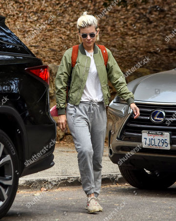 Stock Image of Kate Mara is seen going for a walk with her daughter.