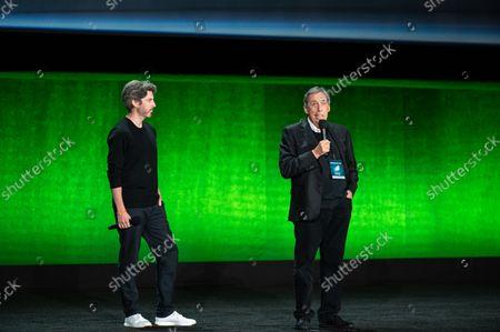 Jason Reitman, Director/ Writer of 'Ghostbusters: Afterlife' and Ivan Reitman, Producer of 'Ghostbusters: Afterlife'