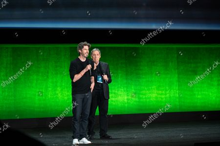 Stock Picture of Jason Reitman, Director/ Writer of 'Ghostbusters: Afterlife' and Ivan Reitman, Producer of 'Ghostbusters: Afterlife'