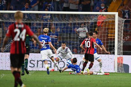 Brahim Diaz (Milan) Maya Yoshida (Sampdoria)Morten Thorsby (Sampdoria)Emil Audero Mulyadi (Sampdoria) he scored the first goal for his team