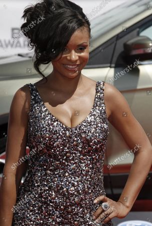 Actress Joyful Drake arrives for the BET Awards 12 at the Shrine Auditorium in Los Angeles on July 1, 2012.