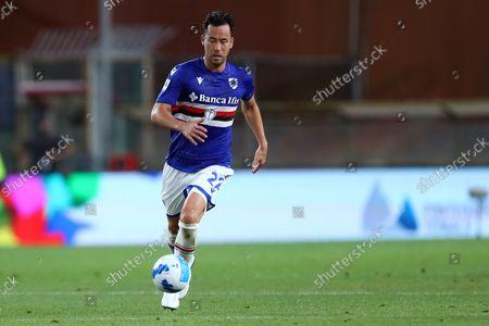 Maya Yoshida of Uc Sampdoria controls the ball during the Serie A match between Uc Sampdoria and Ac Milan at Stadio Luigi Ferraris.