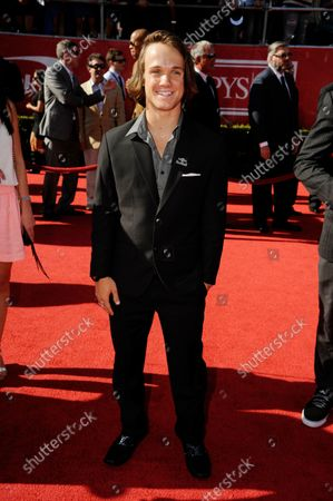 Professional snowboarder Louie Vito arrives for the ESPY Awards at Nokia Theatre in Los Angeles on July 11, 2012.