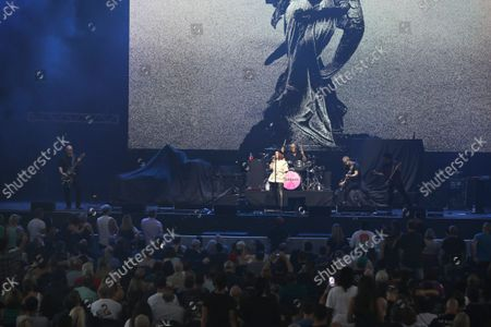 Shirley Manson, Duke Erikson, Steve Marker and Butch Vig with Garbage Performs at Ameris Bank Amphitheatre, in Alpharetta