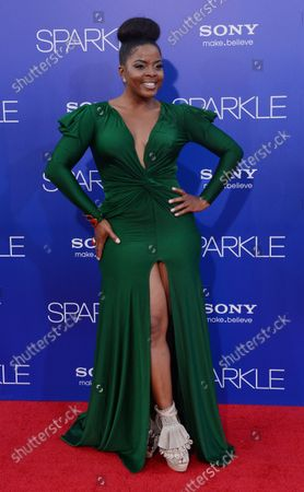 """Bre'ly Evans, a cast member in the motion picture drama """"Sparkle"""", attends the premiere of the film at Grauman's Chinese Theatre in the Hollywood section of Los Angeles on August 16, 2012."""