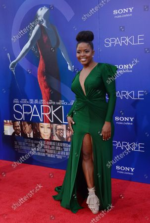 """Stock Picture of Bre'ly Evans, a cast member in the motion picture drama """"Sparkle"""", attends the premiere of the film at Grauman's Chinese Theatre in the Hollywood section of Los Angeles on August 16, 2012."""