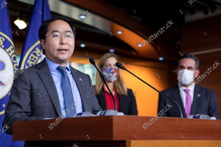 Stock Picture of Rep. Andy Kim, D-N.J., speaks at a news conference on Capitol Hill in Washington, . Members of the House of Representatives have been recalled to Washington amid ongoing negotiations over the $3.5 trillion budget blueprint making its way through the house while facing opposition from both Democrats and Republicans