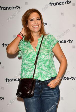 Lea Salame At the 2021-2022 France Television Press Conference at Pavillon Gabriel Paris.