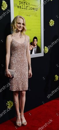 """Actress Erin Wilhelmi attends the premiere of the motion picture romantic drama """"The Perks of Being a Wallflower"""", at the Arclight Cinerama Dome in Los Angeles on September 10, 2012."""
