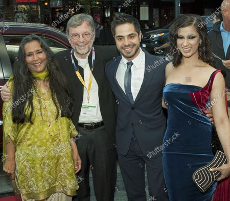L. to R. Director Deepa Mehta, producer David Hamilton, lead actor Satya Bhaba and local actress Anita Majumdar arrive at the Vogue Theatre for their film Midnight's Children the opening gala film at the Vancouver International Film Festival in Vancouver, British Columbia on September 27, 2012. UPI Photo /Heinz Ruckemann