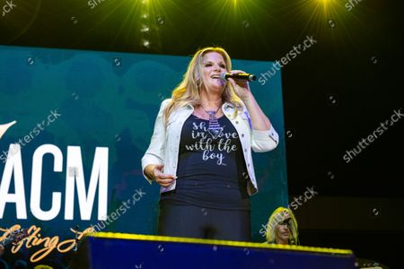 Trisha Yearwood performs at the 2021 ACM Party for a Cause at Ascend Amphitheater, in Nashville, TN