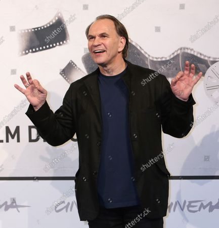 """Aleksei Guskov arrives at a photo call for the film """"Italian Movies"""" during the 7th annual Rome International Film Festival in Rome on November 12, 2012."""