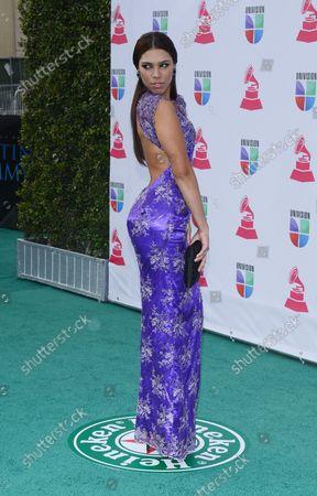 Zoila Ceballos arrives for the 2012 Latin Grammy Awards at the Mandalay Bay Events Center in Las Vegas, Nevada on November 15, 2012.