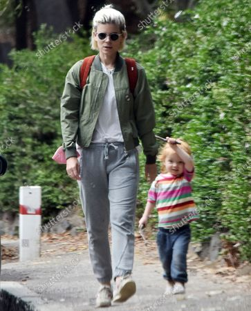 Editorial image of Kate Mara goes for a walk with her daughter, Los Angeles, California, USA - 23 Aug 2021