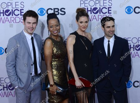 (L-R) Actors Zach Cregger, Tempestt Bledsoe, Erinn Hayes, and Jesse Bradford attend the People's Choice Awards 2013 at Nokia Theatre L.A. Live in Los Angeles on January 9, 2013.