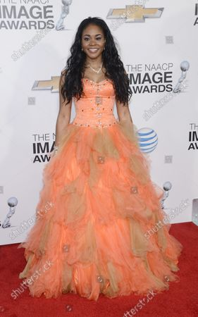 Actress Toy Connor arrives for the 44th NAACP Image Awards at the Shrine Auditorium in Los Angeles on February 1, 2013.