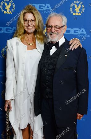 Director Norman Jewison (R) and wife Lynn St. David-Jewison attend the 65th annual Directors Guild of America Awards, which were held Saturday night at the Ray Dolby Ballroom at Hollywood & Highland in Los Angeles on February 13, 2013.