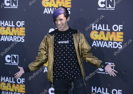Cole Plante attends the Cartoon Network's 3rd annual Hall of Game Awards at the Barker Hangar in Santa Monica, California on February 9, 2013.