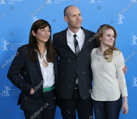"""Catherine Keener (L), Carter (C) and Fallon Goodson arrive at the photo call for the film """"Maladies"""" during the 63rd Berlinale Film Festival in Berlin on February 10, 2013."""