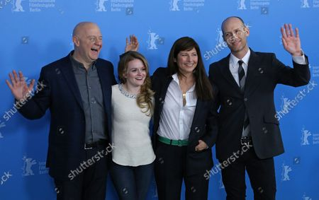 """(From L to R) Jeff Most, Fallon Goodson, Catherine Keener and Carter arrive at the photo call for the film """"Maladies"""" during the 63rd Berlinale Film Festival in Berlin on February 10, 2013."""