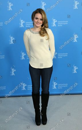 """Fallon Goodson arrives at the photo call for the film """"Maladies"""" during the 63rd Berlinale Film Festival in Berlin on February 10, 2013."""