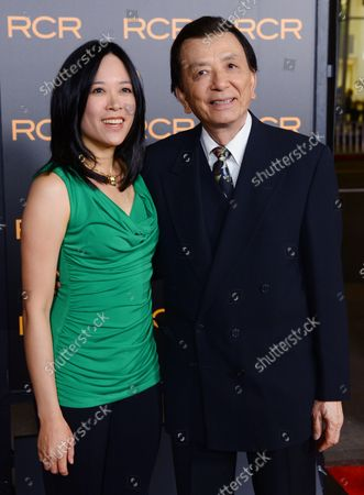 """Actor James Hong and his daughter April Hong attend the premiere of the motion picture thriller """"Phantom"""", at TCL Chinese Theater in the Hollywood section of Los Angeles on February 27, 2013."""