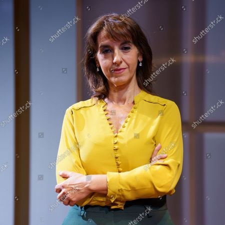 Actress Llum Barrera poses during the portrait session in Madrid.