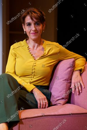 Stock Picture of Actress Llum Barrera poses during the portrait session in Madrid.