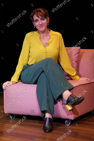 Stock Image of Actress Llum Barrera poses during the portrait session in Madrid.