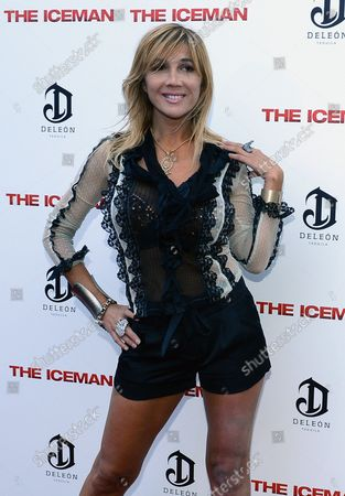 """Nadeea arrives for """"The Iceman""""  movie premiere at the ArcLight Hollywood in the Hollywood section of Los Angeles on April 22, 2013."""