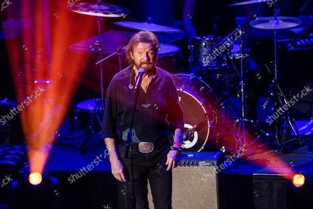 Ronnie Dunn speaks at the 14th Annual ACM Honors at Ryman Auditorium, in Nashville, Tenn